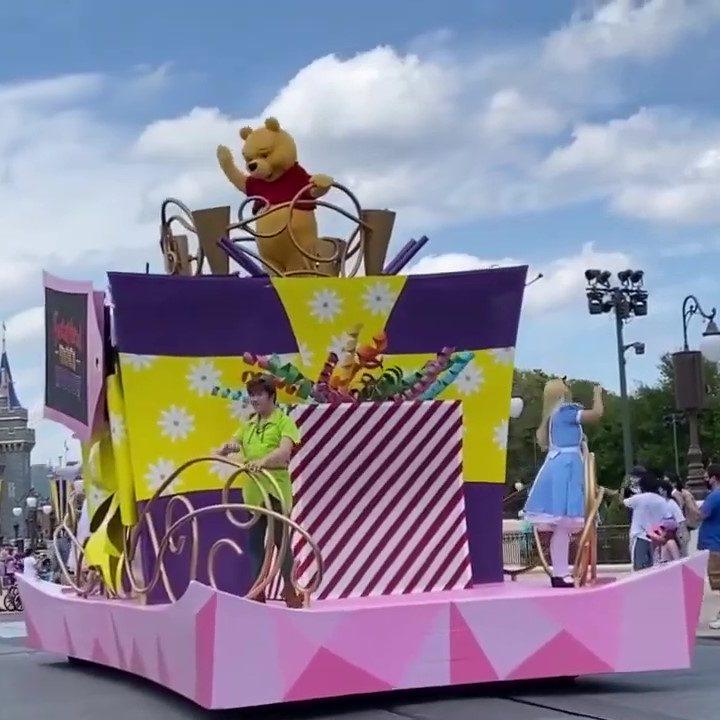 Gaston Rides On His Horse Leading the Magic Kingdom Fantasyland Friends Cavalcade Walt Disney World (1)_Moment