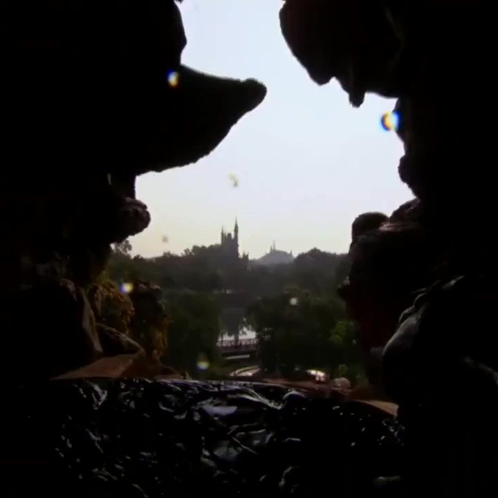Mickey's Nose Overlooks Laughing Place Splash Mountain Magic Kingdom Hidden Mickey Walt Disney World (1)_Moment