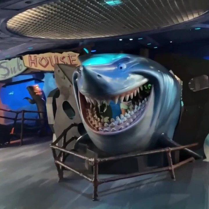 Pearl Of A Hidden Mickey In Bruce's Shark World Epcot Hidden Surprise Walt Disney World (1)_Moment